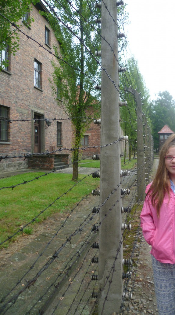 The book, 'The Boy in The Striped Pyjamas', was a catalyst for Ellen who had already read about the subject. Here, Ellen stands at the fence which in the book separated the two friends.
