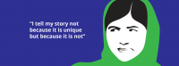 Animated graphic of Malala