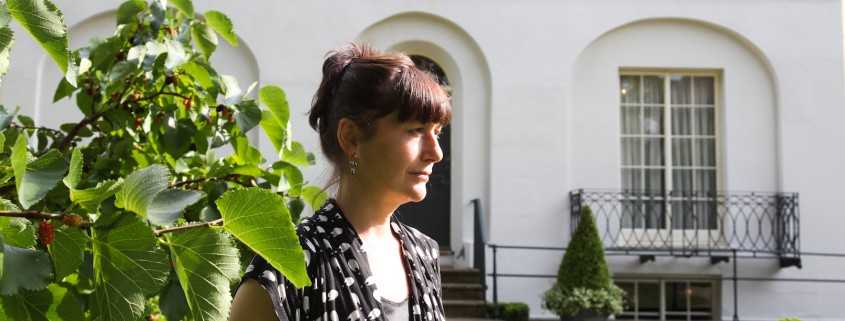 Martina Evans, poet & novelist at Keats House on 7.Aug. 2013